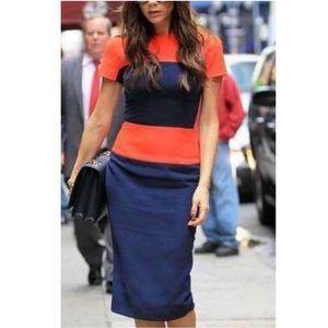 VICTORIA BECKHAM Color-block Dress